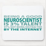 Talento del neurólogo el 3% alfombrilla de raton