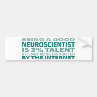 Talento del neurólogo el 3% etiqueta de parachoque