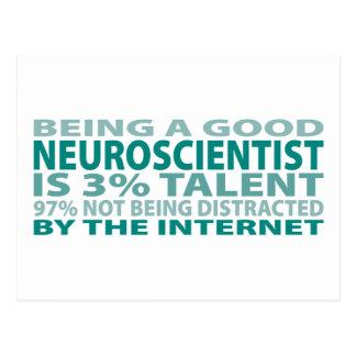 Talento del neurólogo el 3% tarjeta postal