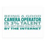 Talento del operador el 3% de la cámara tarjetas postales