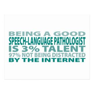 Talento del patólogo el 3% de la Discurso-Lengua Tarjetas Postales