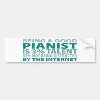 Talento del pianista el 3% pegatina para auto