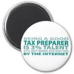 Talento del preparador de impuesto el 3% iman de frigorífico
