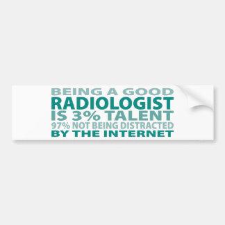 Talento del radiólogo el 3% pegatina de parachoque