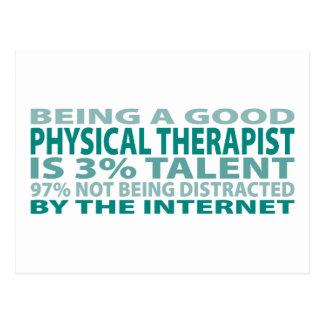 Talento del terapeuta físico el 3% postales