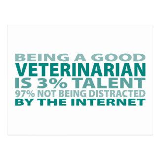 Talento del veterinario el 3% tarjetas postales