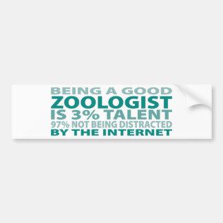 Talento del zoologista el 3 etiqueta de parachoque