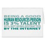 Talento humano de la persona con muchos recursos e tarjeta