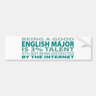 Talento inglés del comandante el 3% etiqueta de parachoque