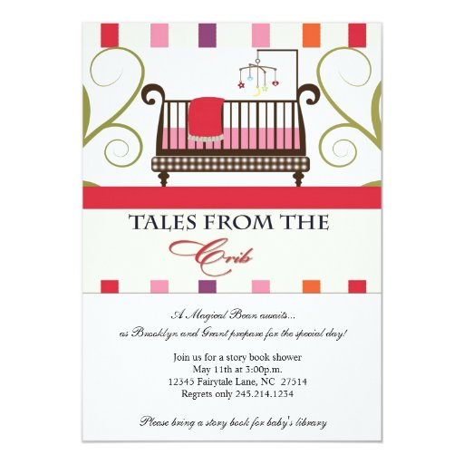 tales from the crib storybook shower invitation zazzle