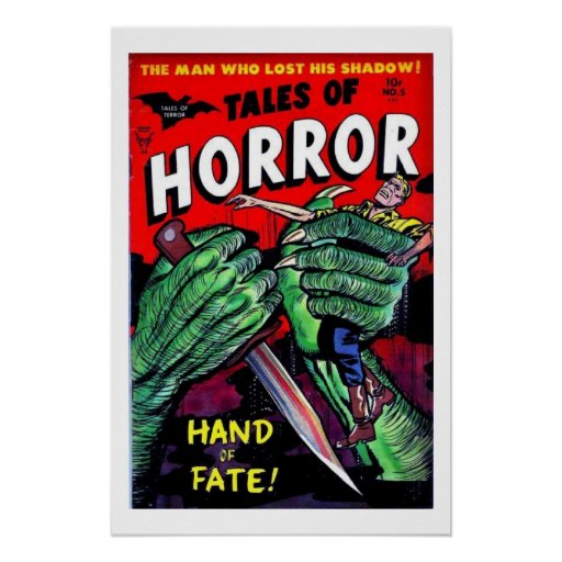 Vintage Book Cover Posters : Tales of horror vintage comic book cover poster zazzle