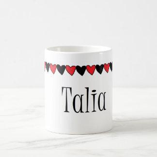 Talia Hearts Name Coffee Mugs