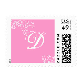 Talia Pink Swirls Stamp F9C Bat Mitzvah Wedding