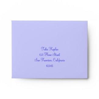 Talia Robin Wedding Bat Mitzvah Thank You envelope