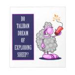¿Talibanes soñan con ovejas de estallido? Libreta Para Notas