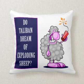 ¿Talibanes soñan con ovejas de estallido? Cojines