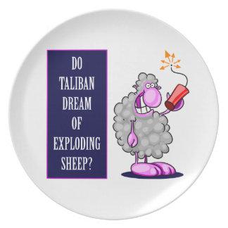 ¿Talibanes soñan con ovejas de estallido? Platos Para Fiestas