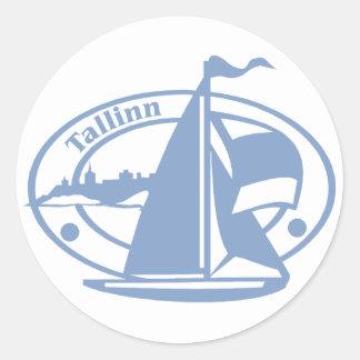 Talinn Stamp Classic Round Sticker