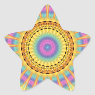 Talismán de Buda de alta calidad Pegatina En Forma De Estrella