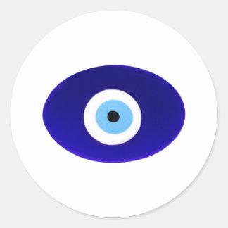Talismán del mal de ojo pegatina redonda