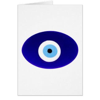 Talismán del mal de ojo tarjeta de felicitación