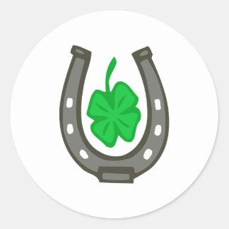 Talisman horseshoe clover sheet classic round sticker