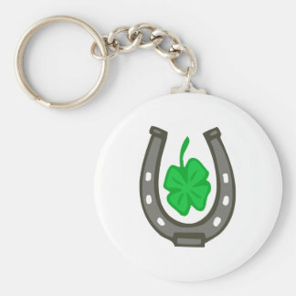 Talisman horseshoe clover sheet keychain