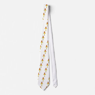TALISMÁN ROJO, blanco Corbata Personalizada