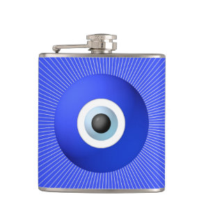 Talisman to Protect Against Evil Eye Hip Flask