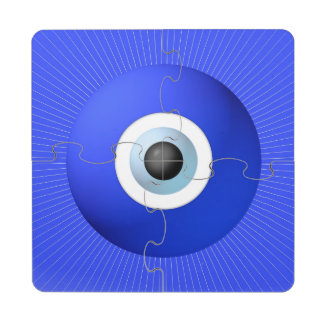 Talisman to Protect Against Evil Eye Puzzle Coaster