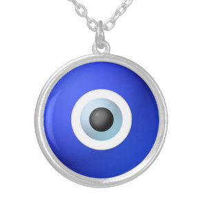 Talisman to Protect Against Evil Eye Silver Plated Necklace