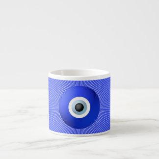 Talisman to Protect Against Evil Eye 6 Oz Ceramic Espresso Cup