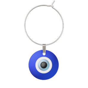 Talisman to Protect Against Evil Eye Wine Glass Charm