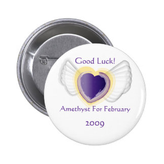 Talismánico como el botón febrero pin redondo de 2 pulgadas