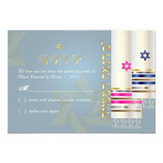 Talit del rsvp de PixDezines mitzvah elegante del Anuncios Personalizados