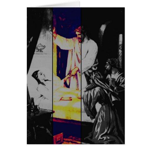 Talitha koum!  Mark 5-38:43 Card