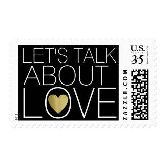 talk about love, wedding postage