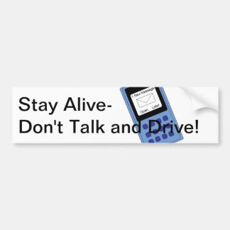 Talk and Drive Bumper Sticker