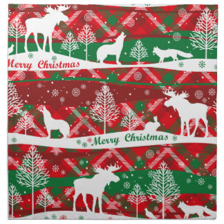 Talk and green christmassy Cloth Napkin