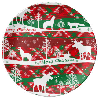 Talk and green christmassy Plate