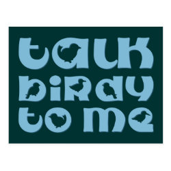 Postcard with Talk Birdy To Me design