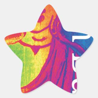 Talk broken buddha star sticker