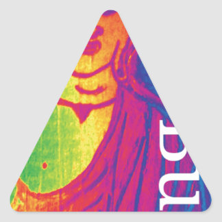Talk broken buddha triangle sticker