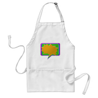 TALK Bubble : Add text or image Editable Template Apron