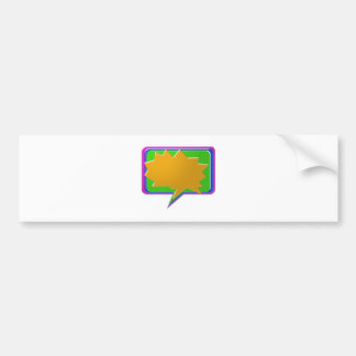 TALK Bubble : Add text or image Editable Template Car Bumper Sticker