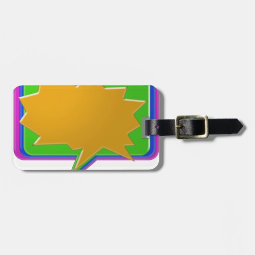 TALK Bubble : Add text or image Editable Template Luggage Tags
