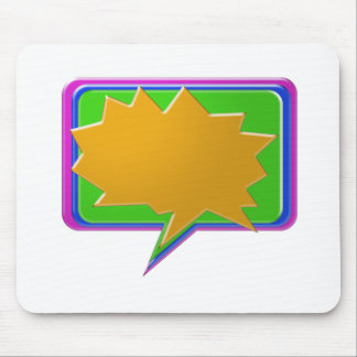 TALK Bubble Add text or image Editable Template Mouse Pads