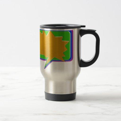 TALK Bubble : Add text or image Editable Template Coffee Mug
