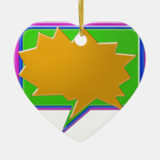 TALK Bubble : Add text or image Editable Template Christmas Tree Ornaments