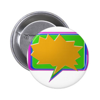 TALK Bubble : Add text or image Editable Template Pinback Button